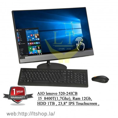 AIO lenovo 520-24ICB, Touchscreen - Core i5